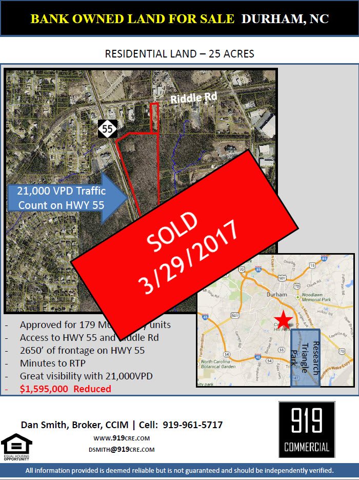 25 acre multifamily land sold