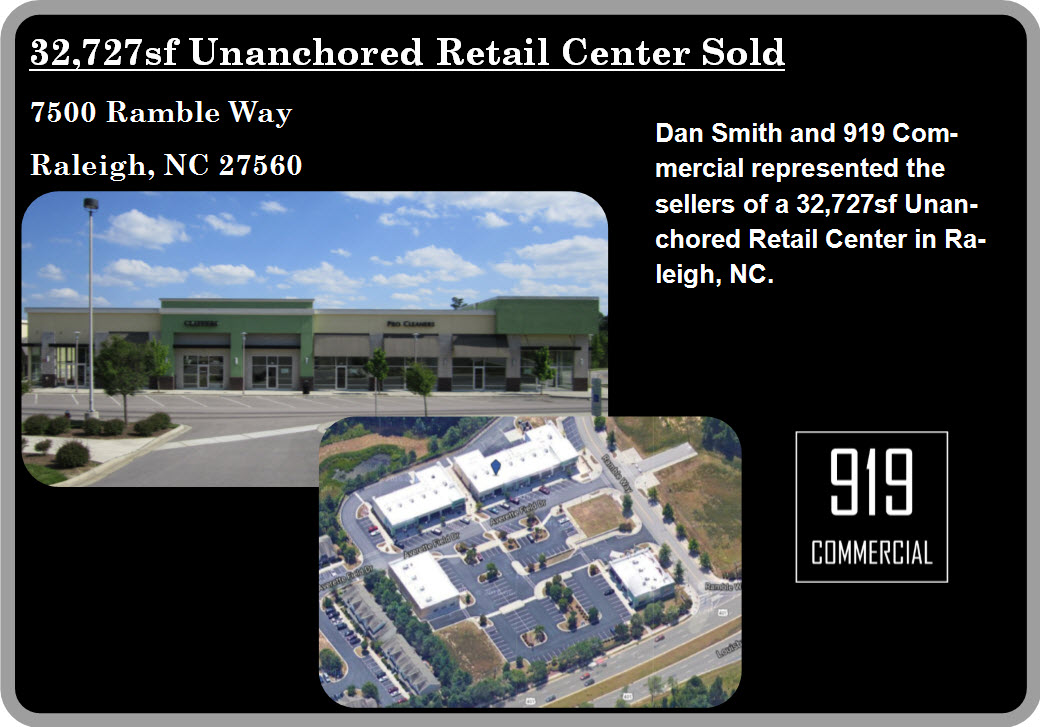 Retail Center Sold Raleigh